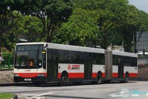 SMRT Mercedes-Benz O405G (TIB997G) - Service 913 [Transit Media green flip-dot]
