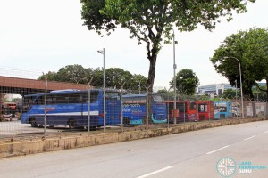 Side view of Ayer Rajah Bus Park from Ayer Rajah Crescent