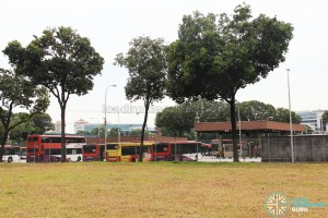 Side view of Ayer Rajah Bus Park from One-North Avenue