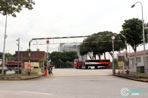 Ayer Rajah Bus Park entrance along Ayer Rajah Crescent