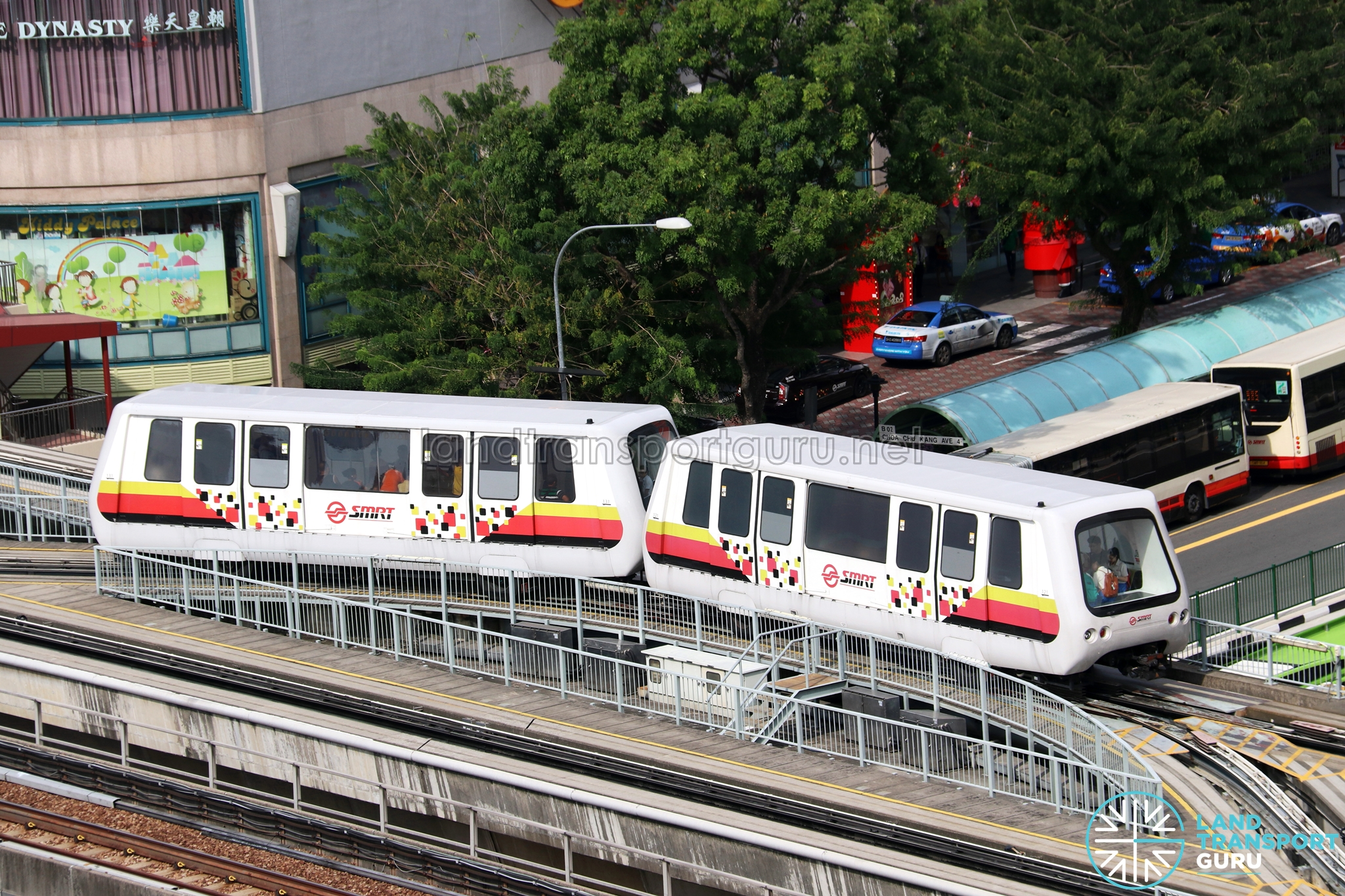 SMRT C801A Trains in Double-car formation