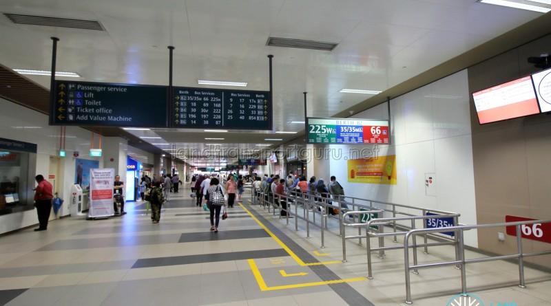 Bedok Bus Interchange - Passenger concourse near Berth B2