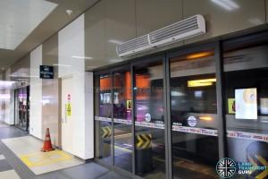 Bedok Bus Interchange - Alighting Berth doors