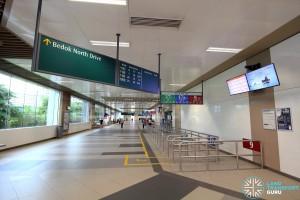 Bedok Bus Interchange - Passenger concourse near Berth B7
