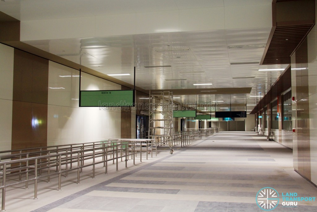 Bedok Bus Interchange - Concourse near Berth B10 (Pre-opening)