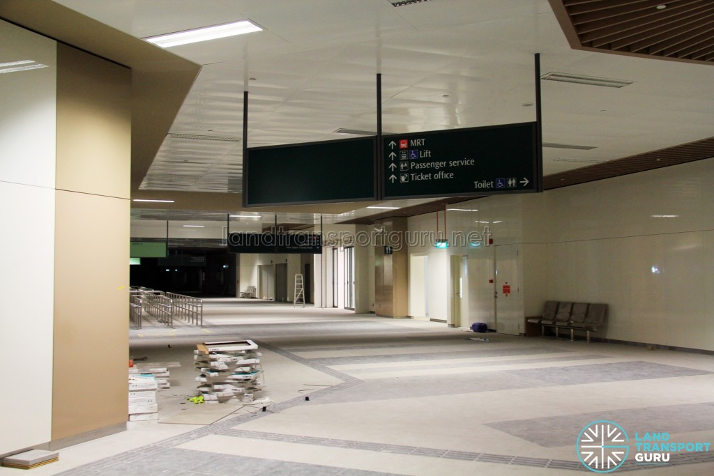 Bedok Bus Interchange - Concourse near Berth B7 (Pre-opening)