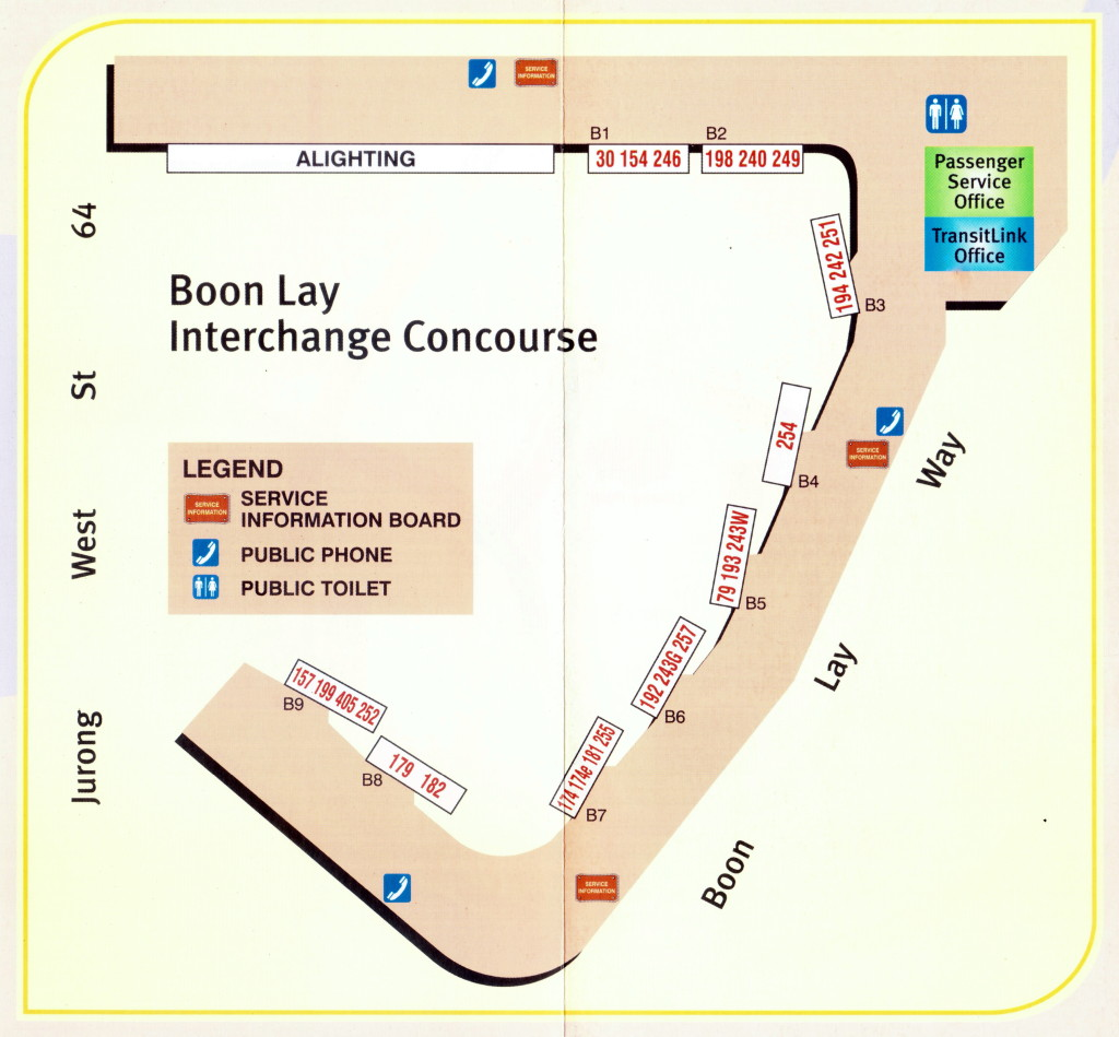 Layout of Boon Lay Temporary Bus Interchange