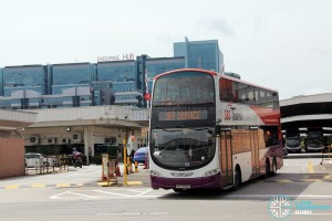 SBS7658H exiting from Bukit Batok Bus Depot