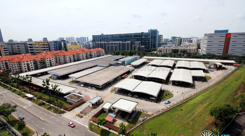 Aerial view of Bukit Batok Bus Depot