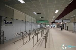 Metal queue lines at the new interchange