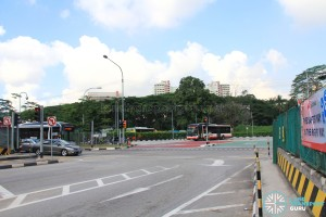 Junction with Woodlands Road during DTL construction