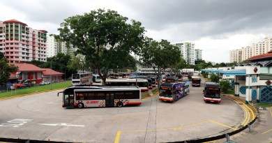 Choa Chu Kang Bus Interchange - Overhead view