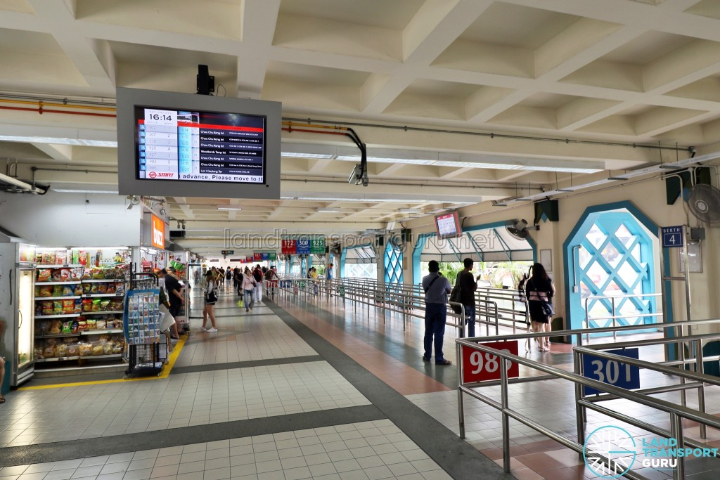 Choa Chu Kang Bus Interchange - Arrival timings screen