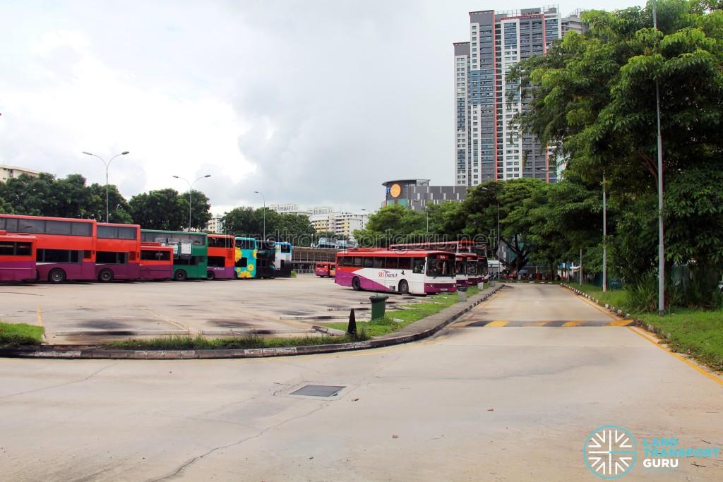 Clementi Temporary Bus Interchange - Bus Park