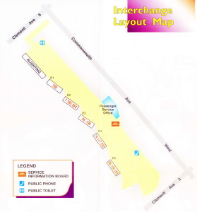 Layout of Clementi Temporary Bus Interchange