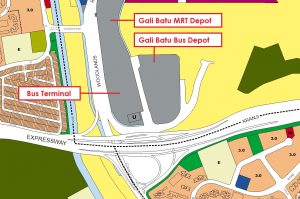 Gali Batu Bus Depot - Location Map