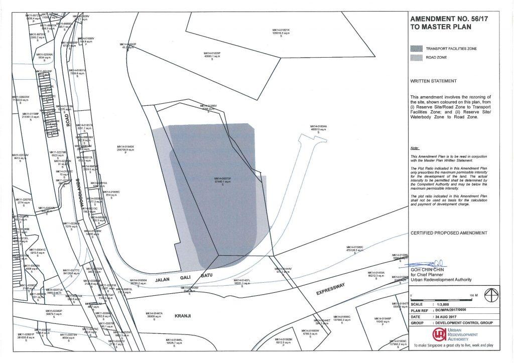 Master Plan amendment to include Gali Batu Bus Depot. Retrieved from URA Website