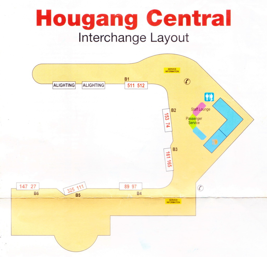 Layout of Hougang Central Bus Interchange