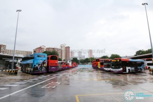 Hougang Central Bus Interchange - Bus Park