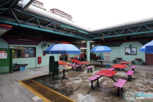 Hougang Central Bus Interchange - NTWU Canteen and tables