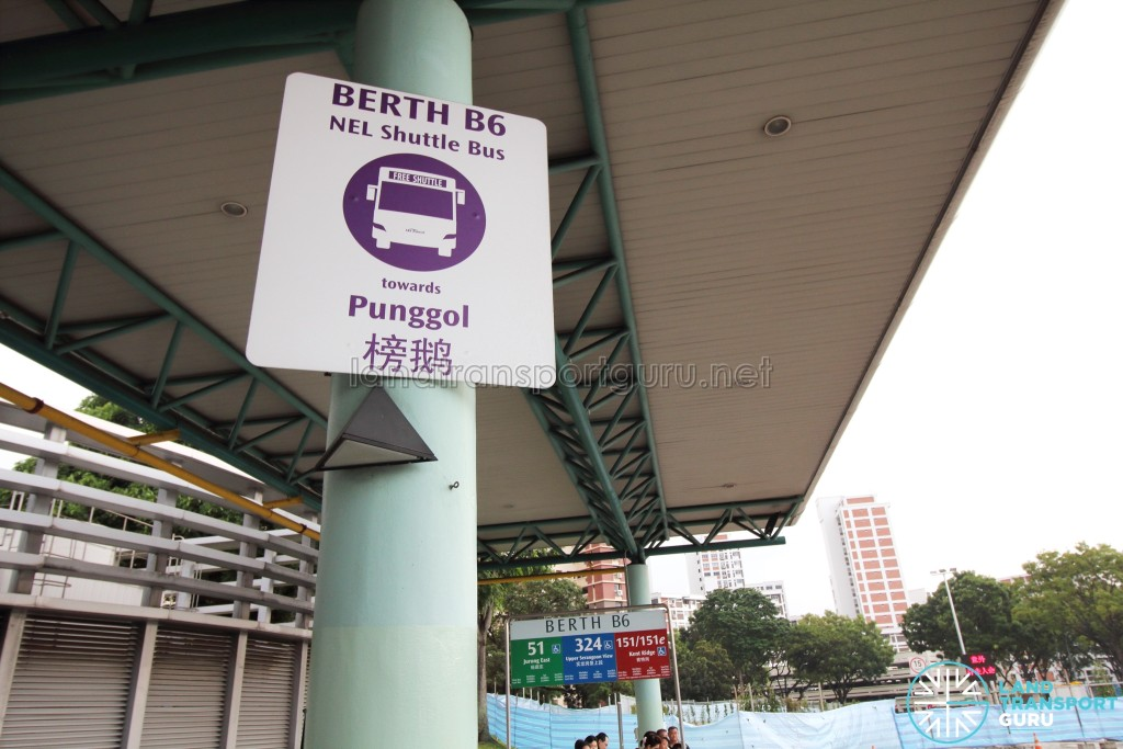 Hougang Central Bus Interchange - NEL Bridging Bus boarding