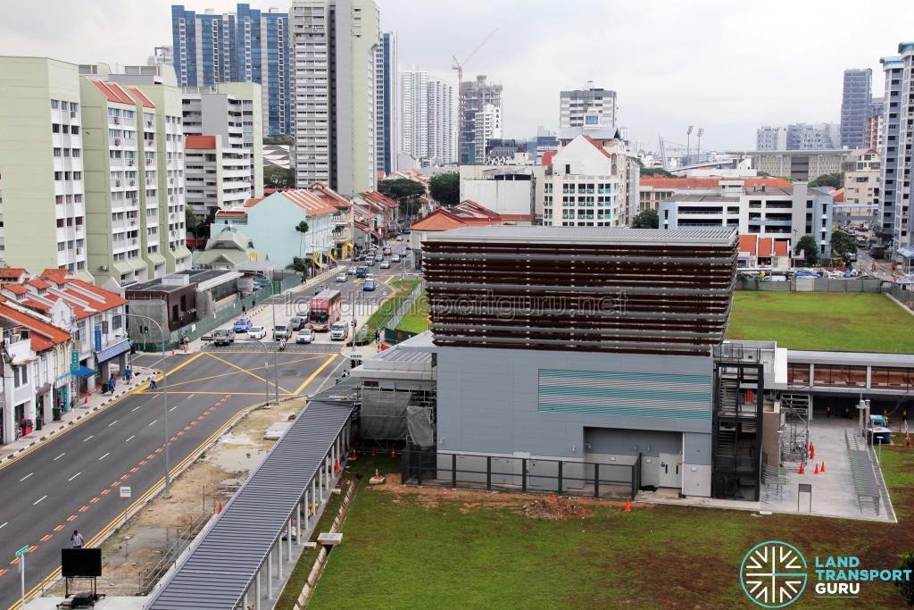Overhead of DTL3 Jalan Besar Station