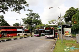 Kent Ridge Bus Terminal - Bus boarding point