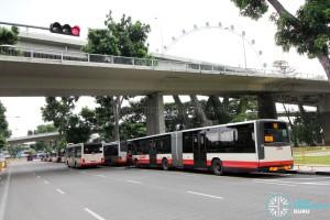 Marina Centre Bus Terminal - SMRT lots at full capacity