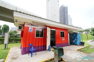 Marina Centre Bus Terminal - SBS Transit container office