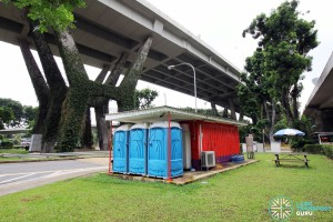 Marina Centre Bus Terminal - Container office and portable toilets