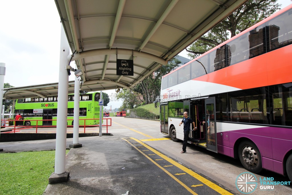 New Bridge Road Bus Terminal - Alighting berth