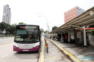 New Bridge Road Bus Terminal - Boarding bus stop