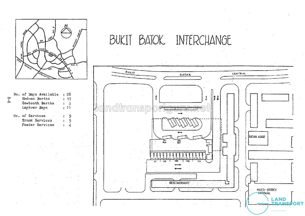 Layout of Bukit Batok Bus Interchange