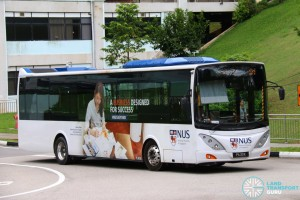 NUS Volvo B9L - Internal Shuttle Bus D1 (PA33K)