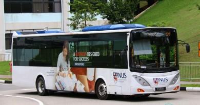 NUS Volvo B9L - Internal Shuttle Bus D1 (PA33K)