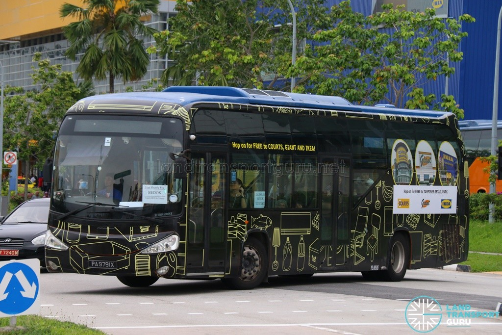 ComfortDelGro Bus Scania K230UB (PA9791X) - Tampines Retail Park Shuttle, Bedok Route