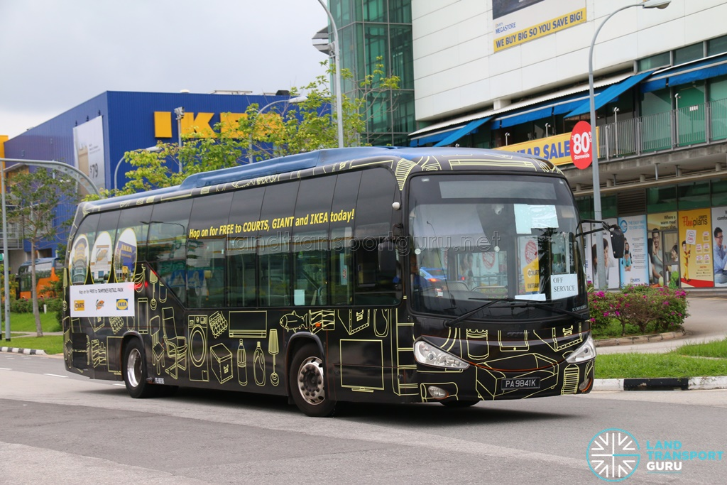 Tampines Retail Park Free Shuttle Bus Services | Land