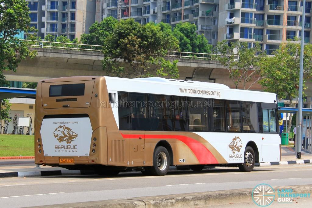 Sunlong SLK6121UF14H Hybrid (PC2677D) - Parkway Parade to Pasir Ris Shuttle