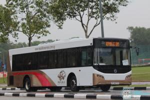 Republic Express -Sunlong SLK6121UF14H Hybrid (PC2677D) - Parkway Parade to Pasir Ris Shuttle