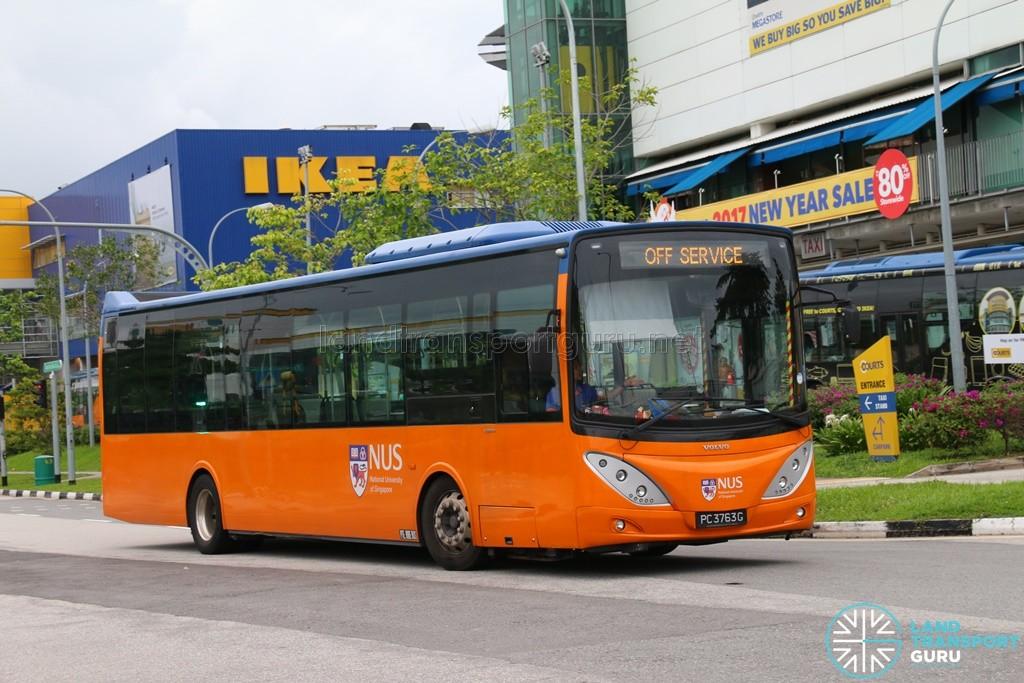 ComfortDelGro Bus Volvo B9L (PC3763G) - Tampines Retail Park Shuttle, Off Service