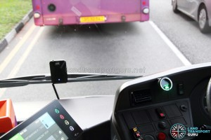 Mobileye 560 installed on a Mercedes-Benz Citaro