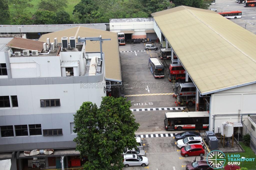 SMRT Ang Mo Kio Bus Depot - Bus Workshop