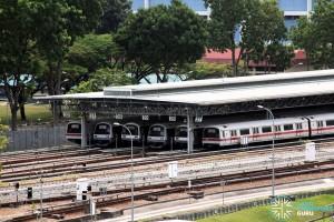 SMRT Ulu Pandan MRT Depot - Train stabling