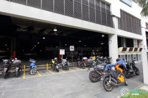 Sengkang Bus Interchange - Motorcycle parking