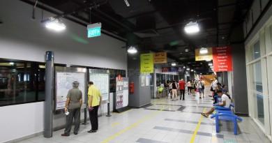 Sengkang Bus Interchange - Information board and Guide racks
