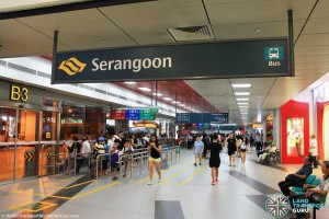 Serangoon Bus Interchange in 2015: Nex entrance