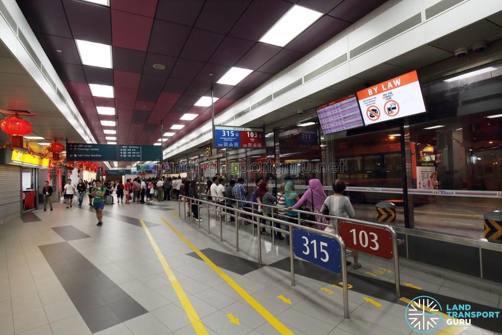 Serangoon Bus Interchange - Concourse near Berth B1