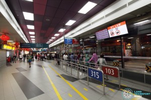 Serangoon Bus Interchange - Concourse near Berth B1