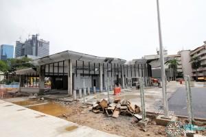 Shenton Way Bus Terminal - Interchange building under construction