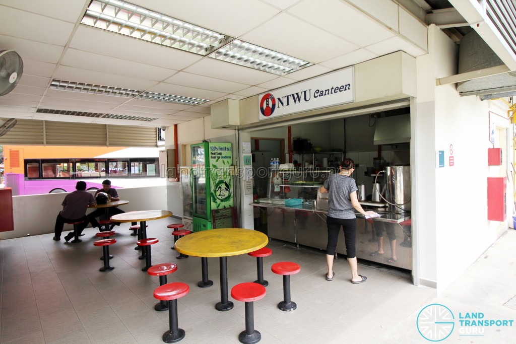 Shenton Way Bus Terminal - NTWU canteen and seats